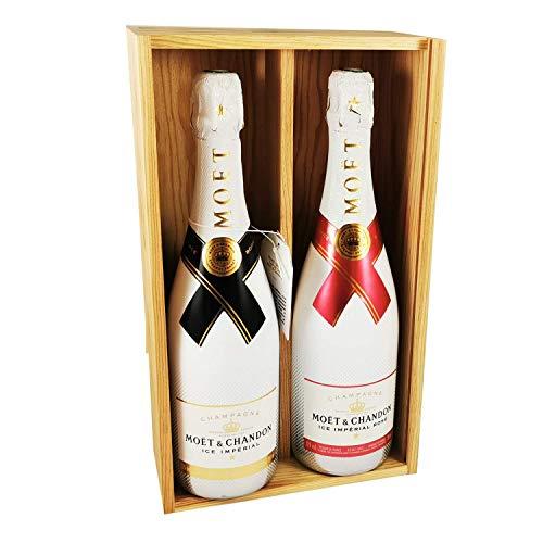Champagne Moet & Chandon - Ice Imperial Brut/Ice Imperial Rosé - En caja de madera