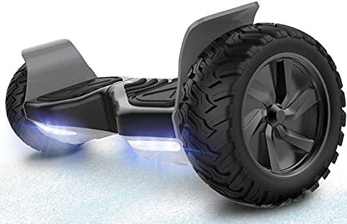 RCB Hoverboard 8.5' Scooter Elektro Scooter E-Skateboard mit Geländewagen für Alle Gelände 8.5' Hummer Integrierte LED-Bluetooth mit leistungsstarkem Motor