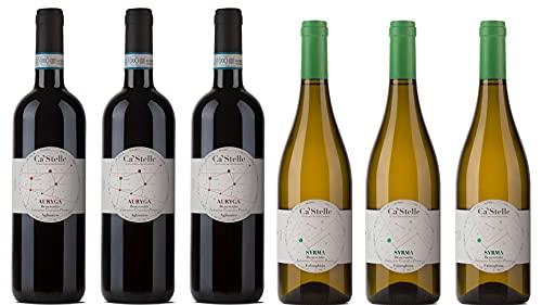 Confezione da Sei bottiglie Ca'Stelle: 3 x Auryga Aglianico IGP + 3 x Syrma Falanghina IGP