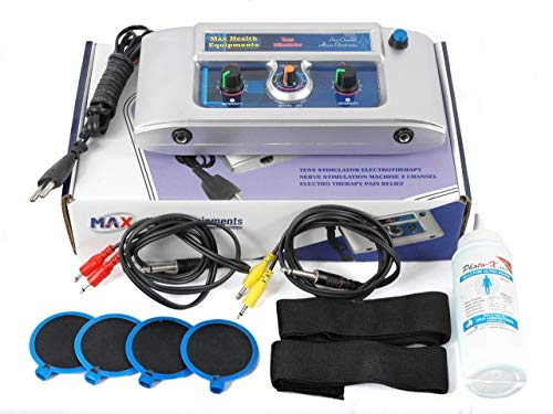 Max Health Equipments TENS stimulator electrotherapy nerve stimulation) Machine 2 Channel Electro...