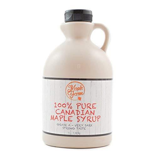 Puro sciroppo d'acero Canadese Grado A (Very dark, Strong taste) - 1 litro (1,32 Kg) - Original...