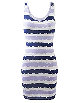 Machine Wash Cold Like Colors / Gentle Cycle / Do Not Bleach / Tumble Dry Low Stretchy Sleeveless Tunic Mini Bodycon Tank Dress Features sleeveless, scoop neck front and back, soft and stertchy fabric. Various Color Choices and Plus Size Available. [...