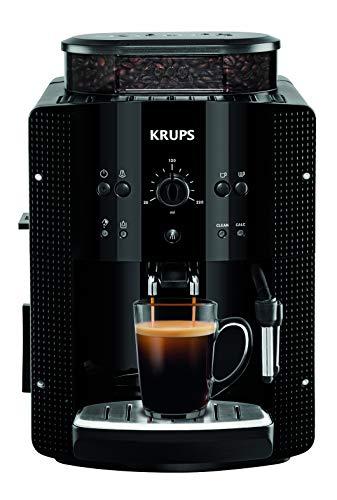 Krups EA8108 CAFETERAS, 1450 W, 1 Cups, Acero Inoxidable, Negro