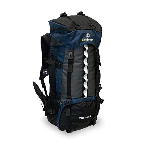 outdoorer Trekkingrucksack Trek Bag 70, 2kg - idealer Backpacker-Rucksack, Reise-Rucksack, Touren-Rucksack schwarz, Rucksack 70l