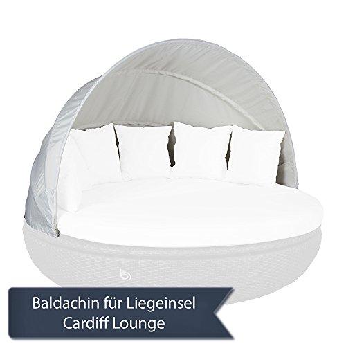 Strandkorbwerk Baldachin/Sonnenverdeck für Cardiff Lounge Domus Ventures Liegeinsel