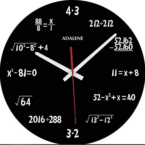 Adalene Math Clock with Mathematical Expressions, Unique...