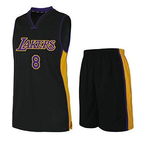 GBYN Jersey di Basket di Campionato di Stagione 2020, Los Angeles Lakers # 24 Kobe Bryant Uniform (Top + Pants + Calzini), Maglie a Stampa a Caldo per Uomini e Donne, Num Black # 8-XXXL