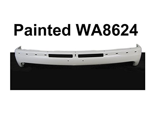 FOR CHEVY SUBURBAN 2000-2006 / TAHOE 2000-2006 / SILVERADO (NEW BODY TYPE) 1999-2002 PAINTED WA8624 SUMMIT WHITE FRONT BUMPER FACE BAR GM1002375