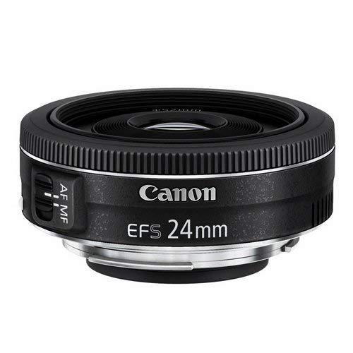 Canon Obiettivo Pancake EF-S 24 mm F/2.8 STM, per camere APS-C, Nero/Antracite