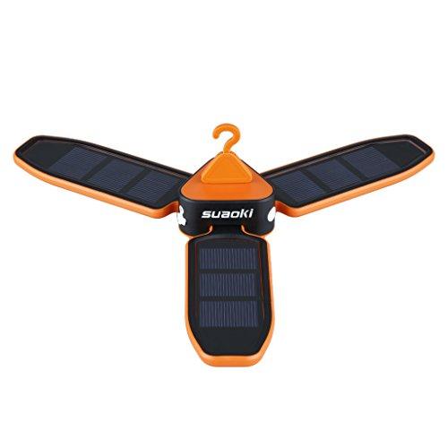 suaoki 高輝度LEDライト USB充電 ソーラーパネル 省電力のLEDを18個搭載 折りたたみ式 3段階調光 吊り下げるフック付き 防災・地震対策