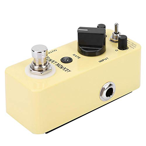 Guitar Wah Effect Pedal, DC 9V Guitar Effect Pedal, 3 modes yellow true bypass with Sticker for Enthusiast instrument Guitar player
