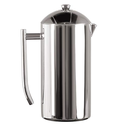Frieling USA Double-Walled Stainless-Steel French Press Coffee Maker in Frustration Free Packaging, Polished, 36 Ounces