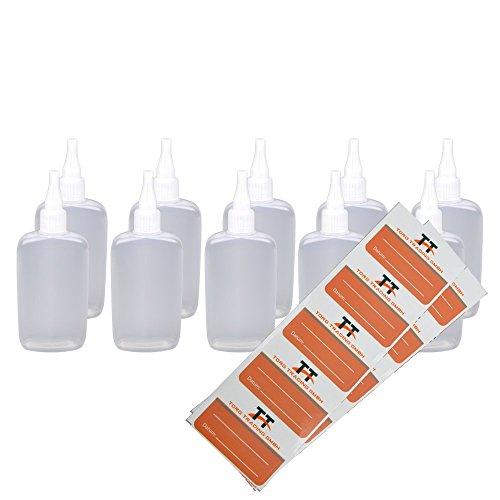 10X 150ML bottiglie di ovaleBottiglie di plastica morbida in PE (bianco/trasparente)liquid bottigliaDosatore per flacone contagocce, bottiglie, Dropper Bottiglie, quetschf laschen