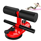 Shapelocker Sit Up Bar for Floor, Adjustable Sit Up Assistant Device Thigh Master Ab Trainer with Double Suction Cups and Training Manual for Home Workout Muscle Training Body Stretching Lose Weight
