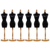ARTIBETTER 6 Pieces of Doll Clothes for Doll Dress Form Mannequin Doll Dress Display Stand Mannequin Model Stand (Black)