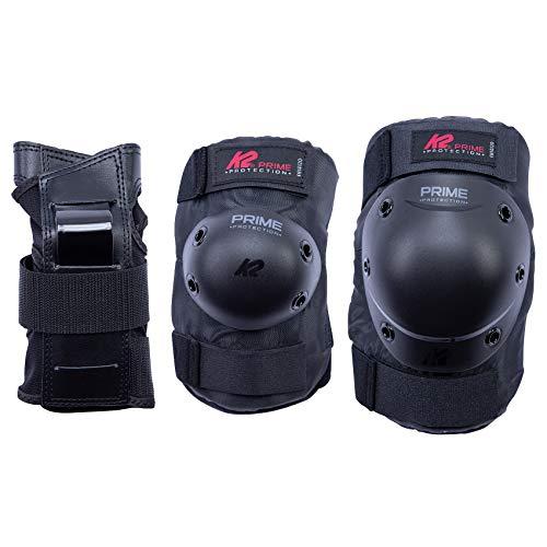 K2 Skates Herren Prime PAD Set, black-red, M (Knee: A:38-42cm B:34-37cm / Elbow: A:25-28cm B:24-27cm / Wrist: A:21-23cm B:18-20cm)