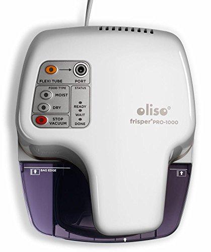 Oliso Pro Frisper PRO-1000 Smart Vacuum Sealer for Food Storage (White)