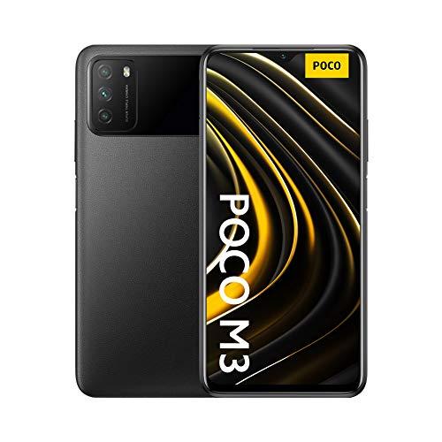 "Xiaomi Poco M3 - Smartphone 4+64GB, Pantalla 6,53"" FHD+ con Dot Drop, Snapdragon 662, Cámara triple de 48 MP con IA, batería de 6000 mAh, Power Black"
