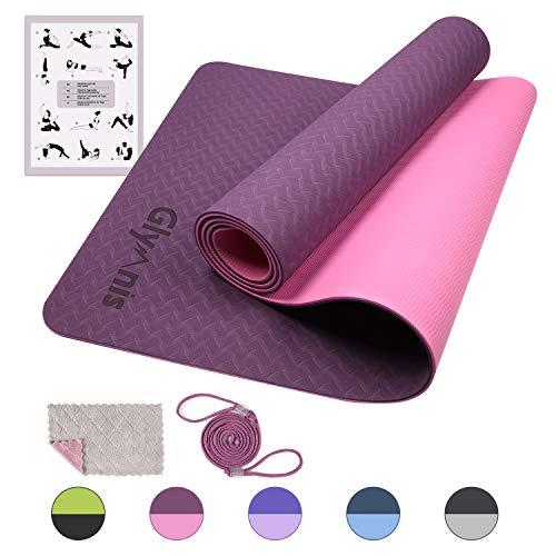 Glymnis Esterilla Yoga Antideslizante Colchoneta Yoga Mat Esterilla Deporte de Material...