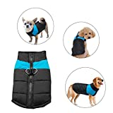 Didog Cold Weather Dog Warm Vest Jacket Coat,Pet Winter Clothes for Small Medium Large Dogs,8, Blue,M Size
