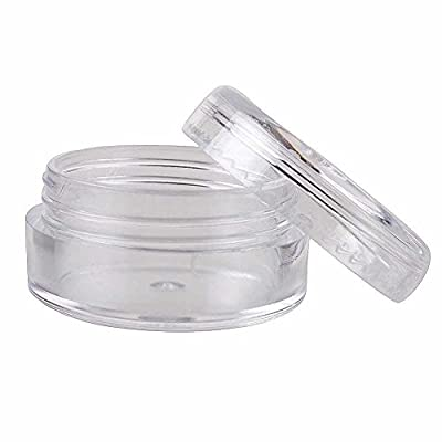25/50/100/200 Clear Plastic Cosmetic Sample Containers - 5 Gram (Pack 25)