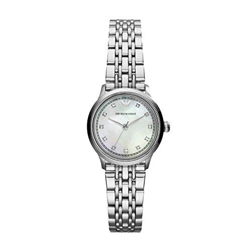 Emporio Armani Damen Analog Quarz Uhr mit Edelstahl Armband AR1803