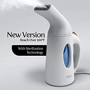 ULTIMATE IRON STEAMING TECHNOLOGY, UPGRADED VERSION – New Hi-Tech Heating Panel! Heats Up Within Just 60 Secs. Powerful Soothing Steam Flow To Remove Stubborn Wrinkles For Over 10 Mins. Home Multi-use: Steam Iron, Clean, Treat, Refresh, Humidify, Def...