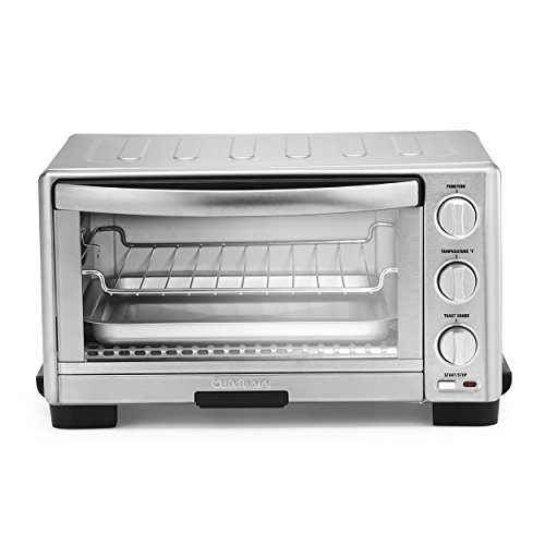 """Cuisinart TOB-1010 Toaster Oven Broiler, 11.77"""" x 15.86"""" x 7.87"""", Silver"""