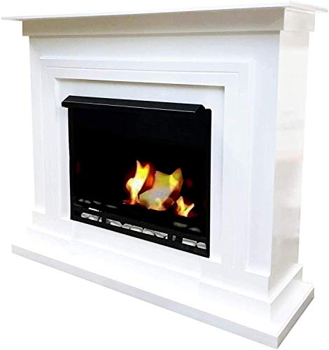 Kaminbau Mierzwa Berlin Ethanol Fireplace Gel Fireplace with 27 Pieces Set (White)