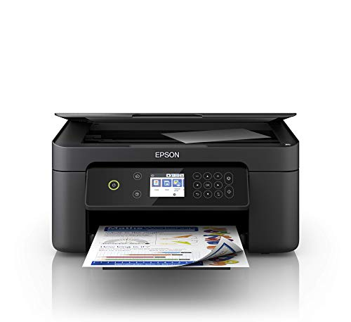 Epson Expression Home XP-4100 3-in-1-Tintenstrahl-Multifunktionsgerät, Drucker (Scanner, Kopierer, WiFi, Einzelpatronen, Duplex, 6,1 cm Display) Amazon Dash Replenishment-fähig, schwarz