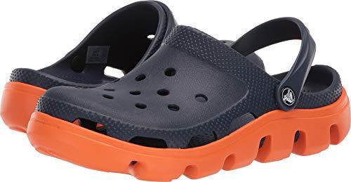Crocs Duet Sprt Clg , Zuecos De Goma, Color Navy/Orange, Talla 38 - 39