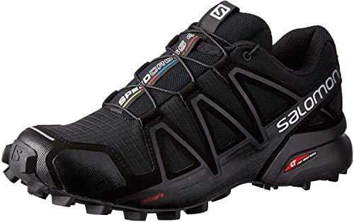 Salomon Speedcross 4 W, Zapatillas de Trail Running Mujer, Negro (Black/Black/Black Metallic), 42 2/3 EU