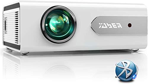 YABER Proiettore Bluetooth, 5500 Lumens Mini Videoproiettore Portatile LED Proiettore 1080P Full HD Home Cinema...