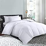 Cannon Home 100% Cotton White Goose Duck Down and Feather Filling Comforter 240 Thread Count Hypoallergenic Lightweight All season Duvet Insert