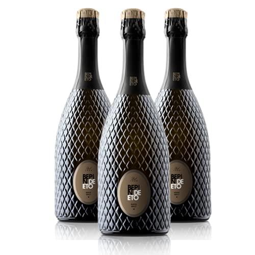 degoosta, Box degustazione Bepin De Eto - 3 x Conegliano Valdobbiadene, Prosecco Superiore Brut DOCG Millesimato, 3 bottiglie da 75 cl (Brut)