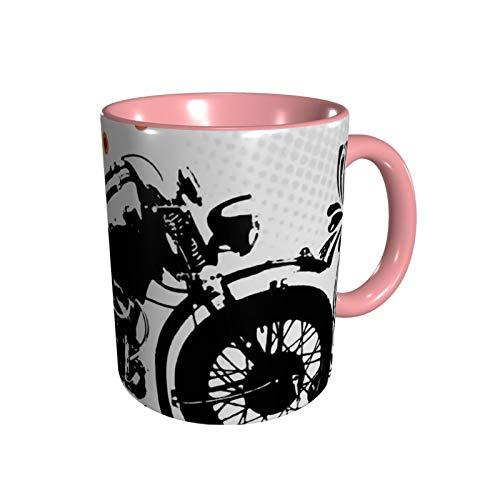 マグ マグカップ コーヒーカップ Cup コーヒーマグ オートバイ 330ml おしゃれ プリント 陶器 セラミックマグ ギフト ボックス付き 耐熱 耐冷 電子レンジ 白陶器 デザイン オフィス カラー