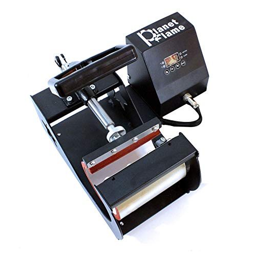 PlanetFlame Factory CE 6-11oz Mug Heat Press Machine, Professional Digital Display Sublimation Printing Machine Heat Transfer Presses for Coffee Mug Cup Bottle (Red, 11oz)