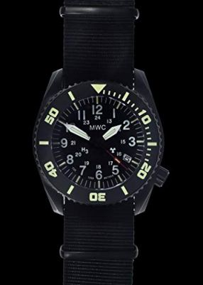 """MWC""""Depthmaster"""" 100atm / 3,280ft / 1000m Water Resistant Military Divers Watch in PVD Stainless Steel Case with GTLS and Helium Valve (Automatic)"""