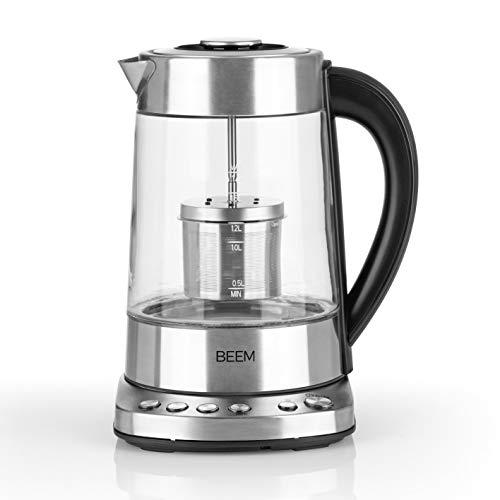 BEEM TEATIME Tee- und Wasserkocher - 1,7 l | BASIC SELECTION | Integriertes Teesieb | 4 Programme