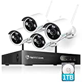 HeimVision HM241A 1080P Wireless Security Camera System with 1TB Hard Drive, 8CH NVR 4Pcs Outdoor WiFi Surveillance Camera with Night Vision, Waterproof, Motion Alert, Remote Access