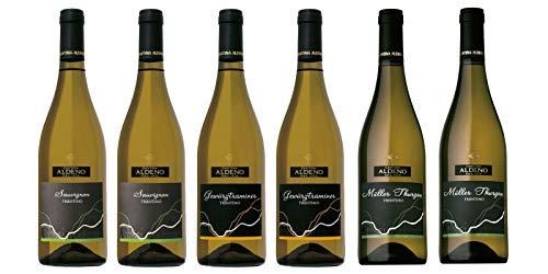 Confezione 6 bottiglie | 3 tipologie di Vino Bianco Trentino DOC: Gewurztraminer | Muller Thurgau | Sauvignon - Cantina Aldeno - Athesim Flumen