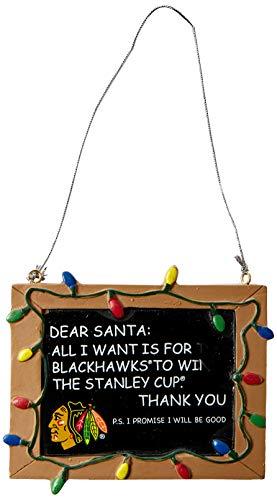 Chicago Blackhawks Resin Chalkboard Sign Ornament