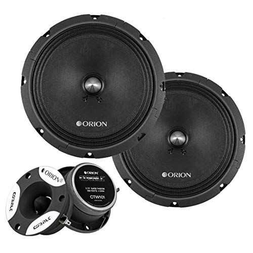 Orion CT-M8 8' 900W Midrange Speakers and Orion CTW101 3.75' 200W Tweeters Combo