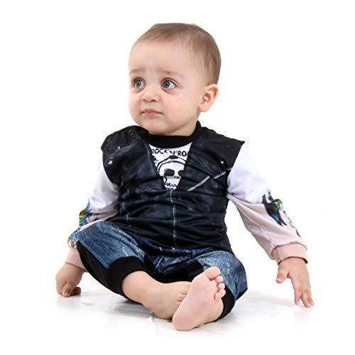 Macacão Motoqueiro Bebê Sulamericana Fantasias 9 Meses