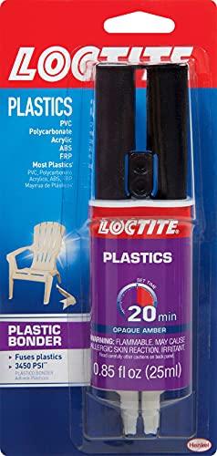 Loctite Epoxy Plastic Bonder 0.85-Fluid Ounce Syringe (1363118), Single, Amber