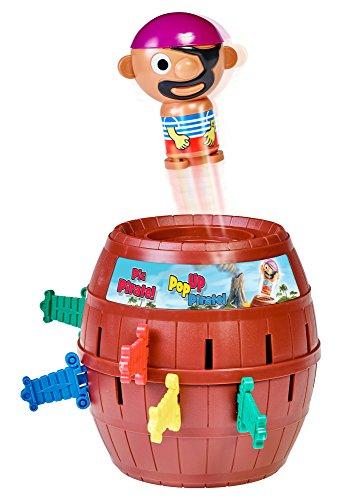 """TOMY T7028A1 Kinderspiel """"Pop Up Pirate"""", Hochwertiges Aktionsspiel für die Familie, Piratenspiel zur Verfeinerung der Geschicklichkeit Ihres Kindes, Gesellschaftsspiel ab 4 Jahren, Pop up Spiel"""