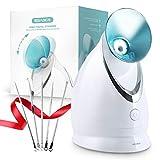 EZBASICS Facial Steamer Nano Ionic Face Steamer with Aromatherapy Design for Home Facial Warm Mist...