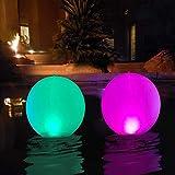 Lampe Solaire Flottante,Globe Solaire à LED étanche, Boule Lumineuse,...