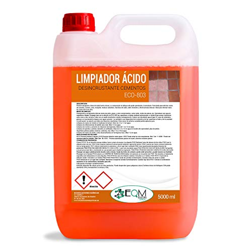 Quitacementos 5 L   Limpiador Suelos, Desincrustante ácido   Ecosoluciones Químicas ECO-803