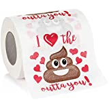 Maad Romantic Novelty Toilet Paper - Funny Gag Gift for Valentine's...